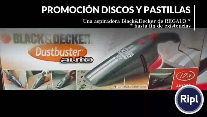 PROMOCIÓN DISCOS Y PASTILLAS. REGALO DE ASPIRADOR BLACK AND DECKER }}