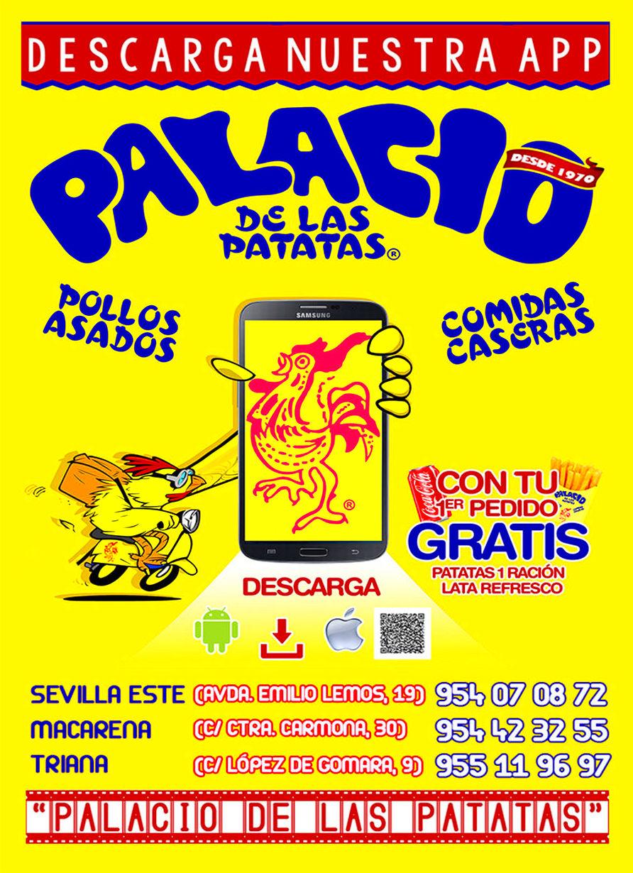 """DESCARGA NUESTRA APP """"PALACIO DE LAS PATATAS"""" PARA ANDROID & IOS"""