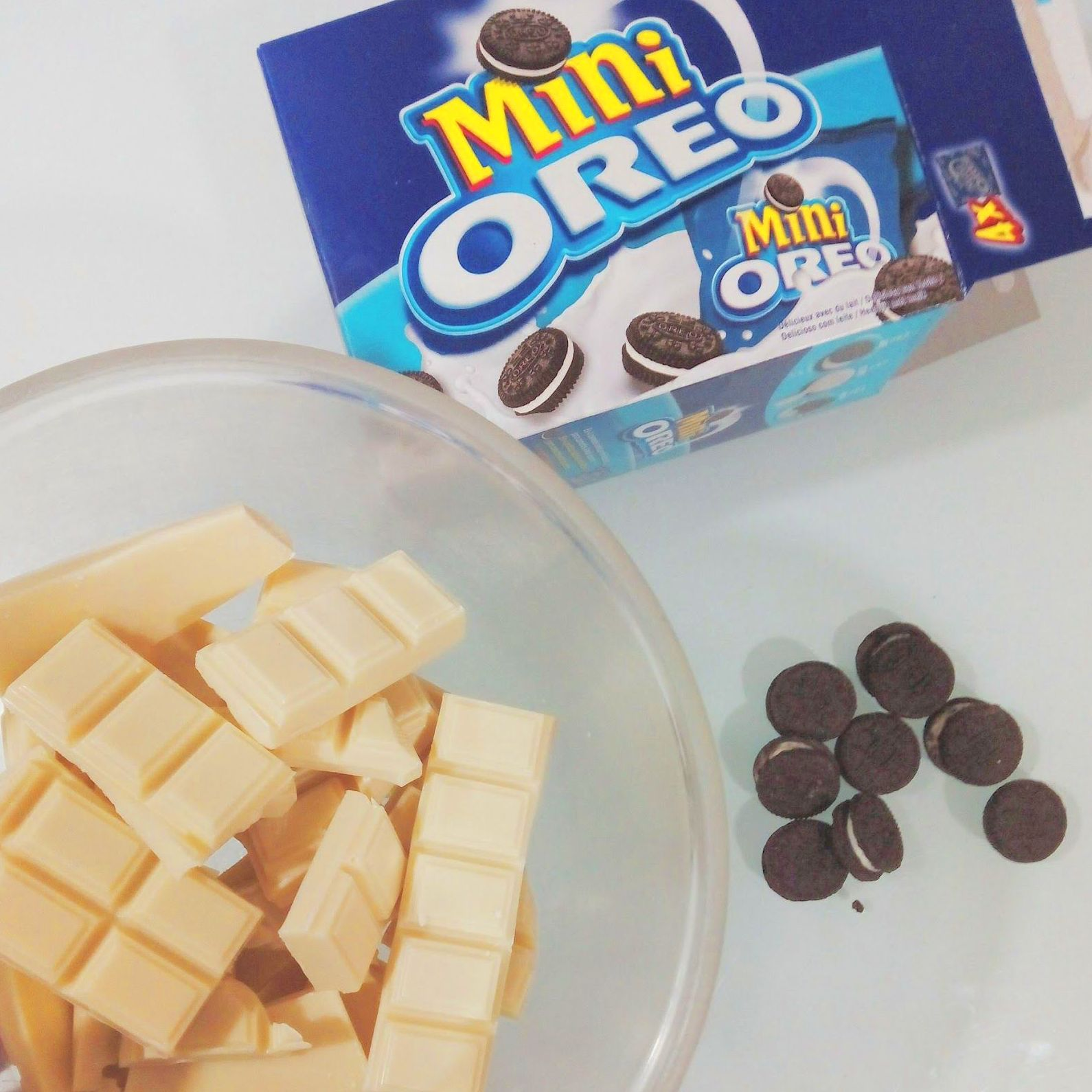 Tartas Caseras de Chocolate Blanco con Oreo®