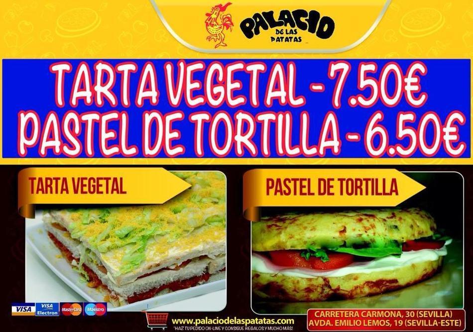 TARTA VEGETAL - PASTEL DE TORTILLA