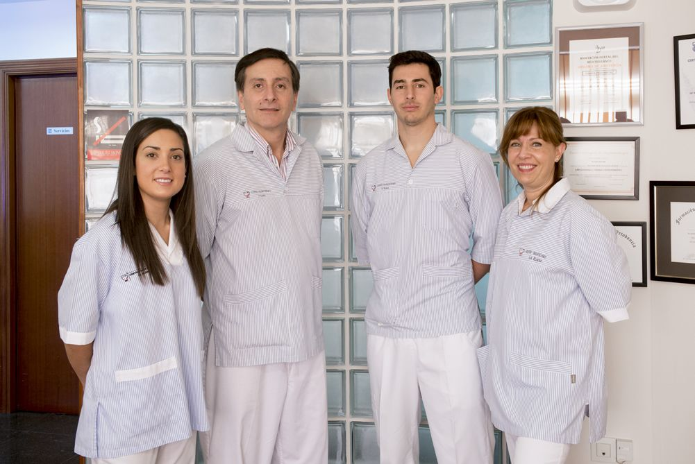 Profesionales de la clínica dental