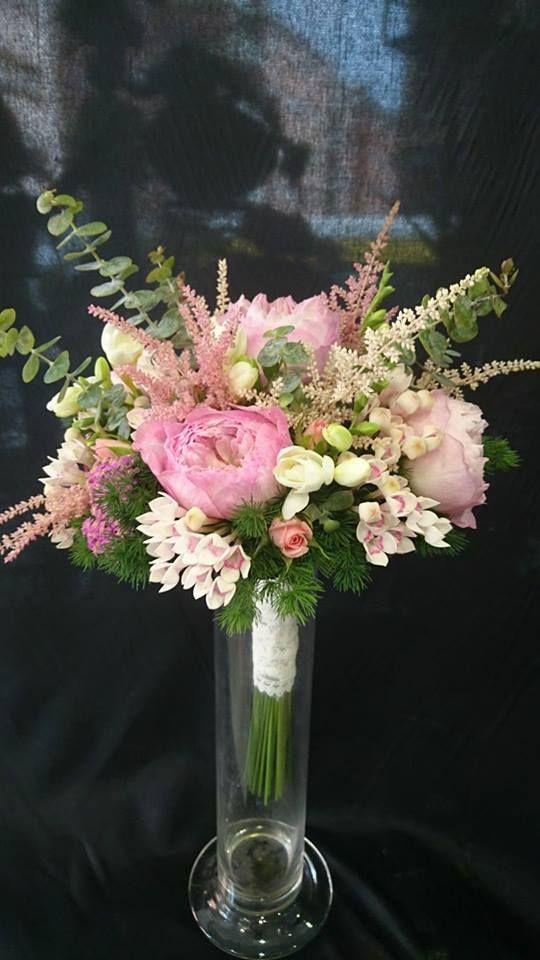 Bouquet en tonos rosas