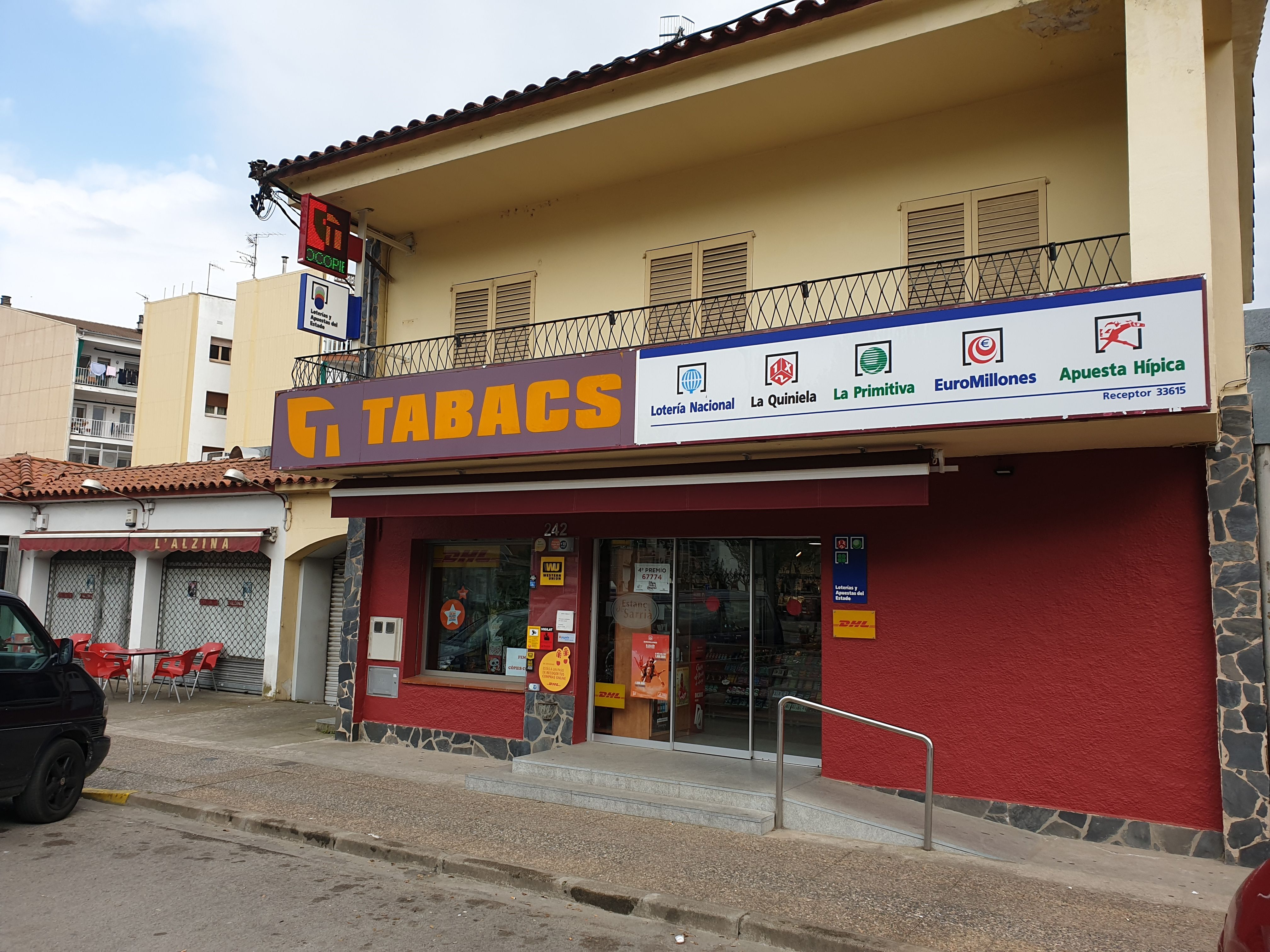Venta de tabaco en Sarriá