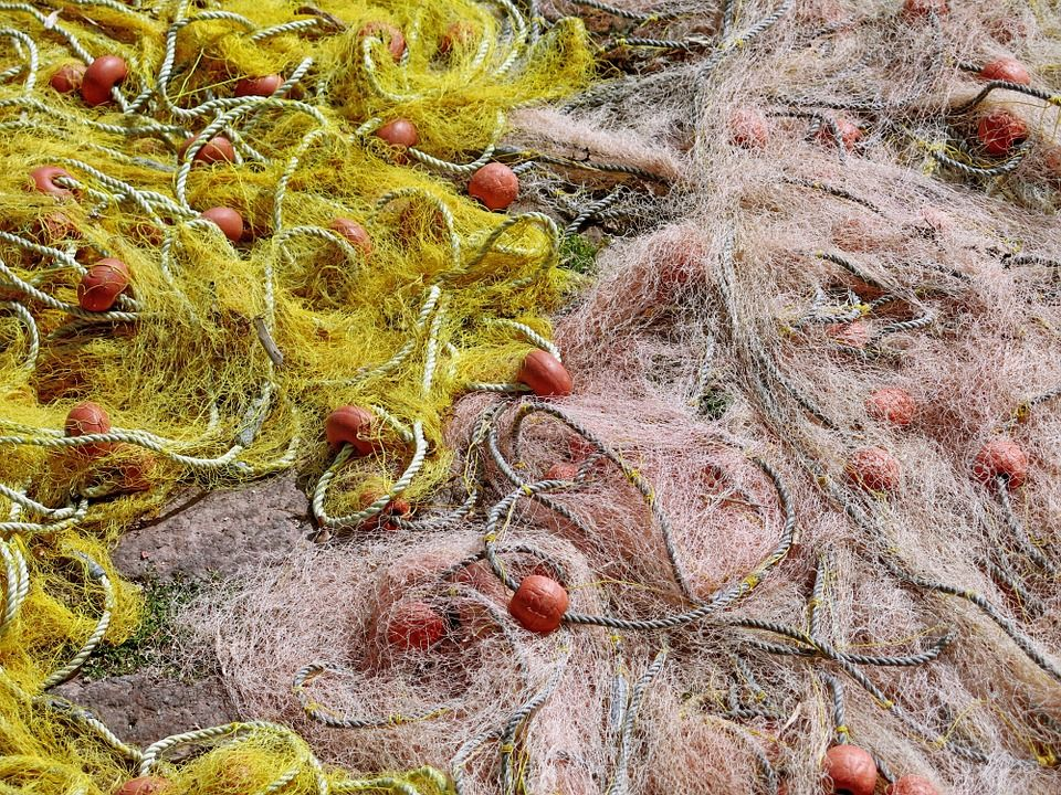 Cordelería y palangres de nylon