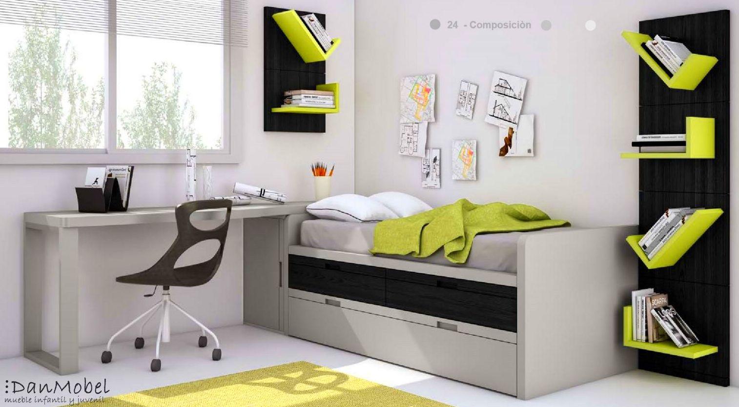 Dormitorio juvenil composición 24