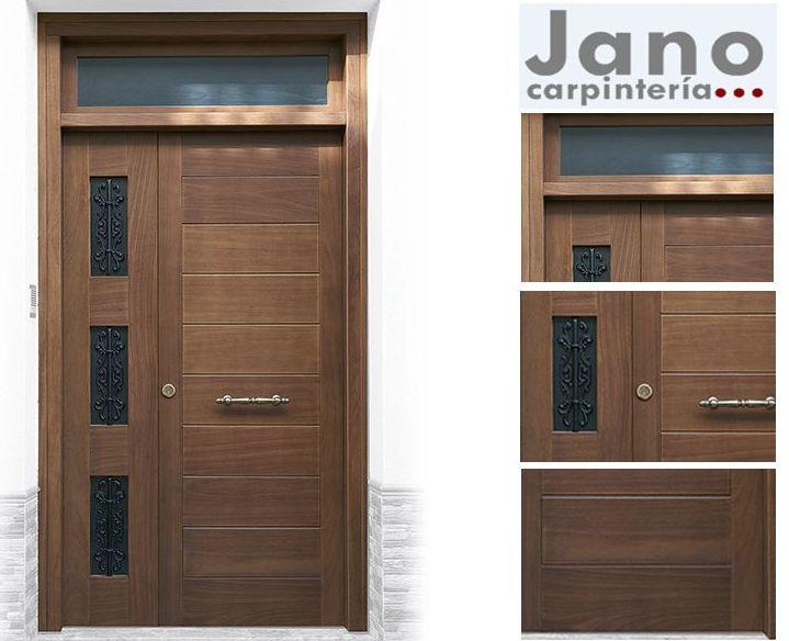 Puertas de entrada para exterior en madera maciza for Catalogo puertas exterior madera