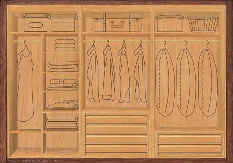Diseño interior de armario