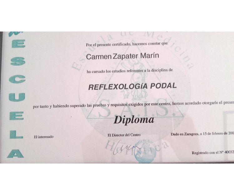 Titulación para la disciplina de reflexología podal