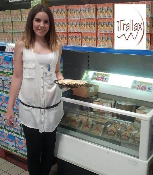 Grupo Trallax promocionando queso de Covap