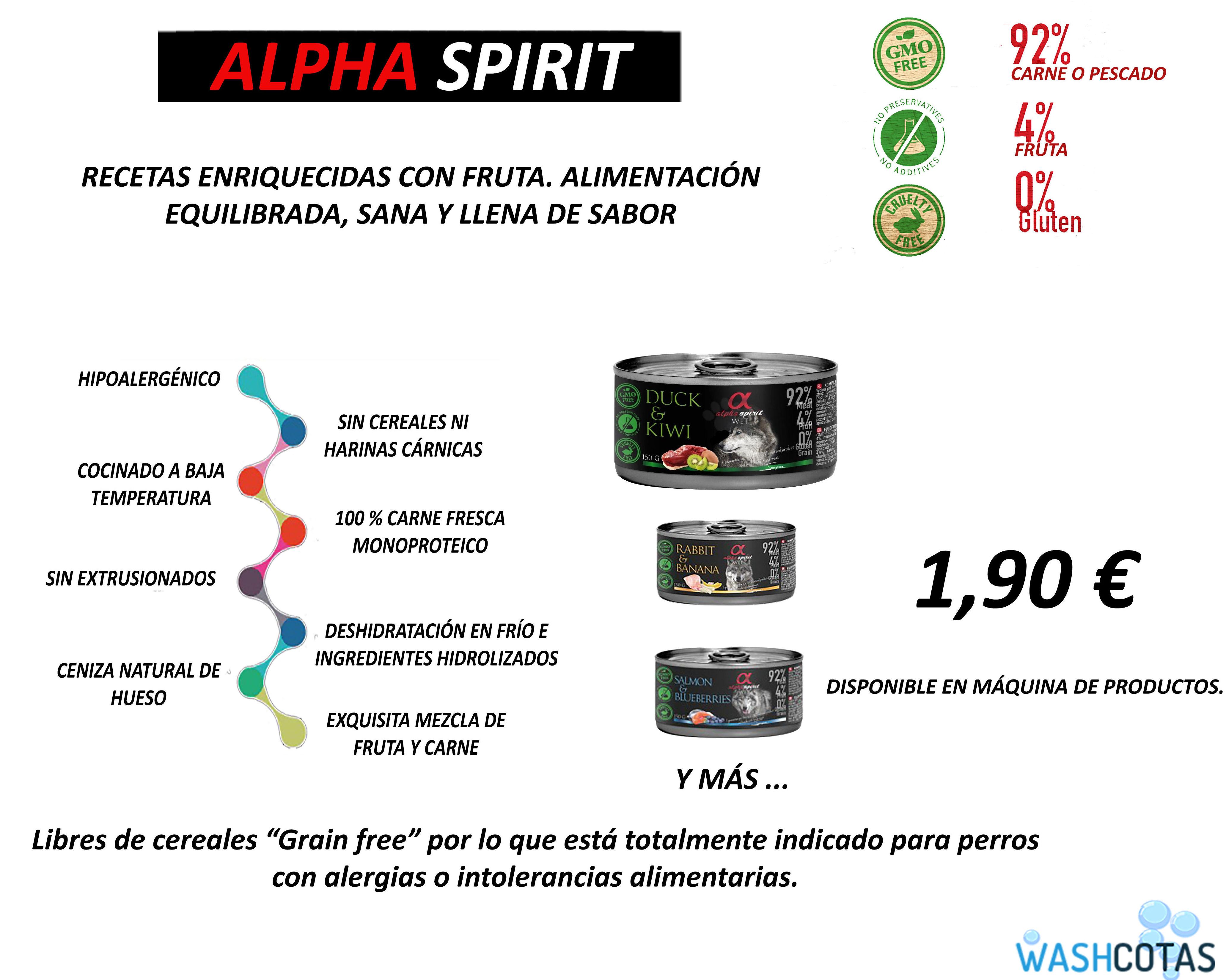 Alpha Spirit lata 150 gr.: Servicios de Washcotas - Madrid