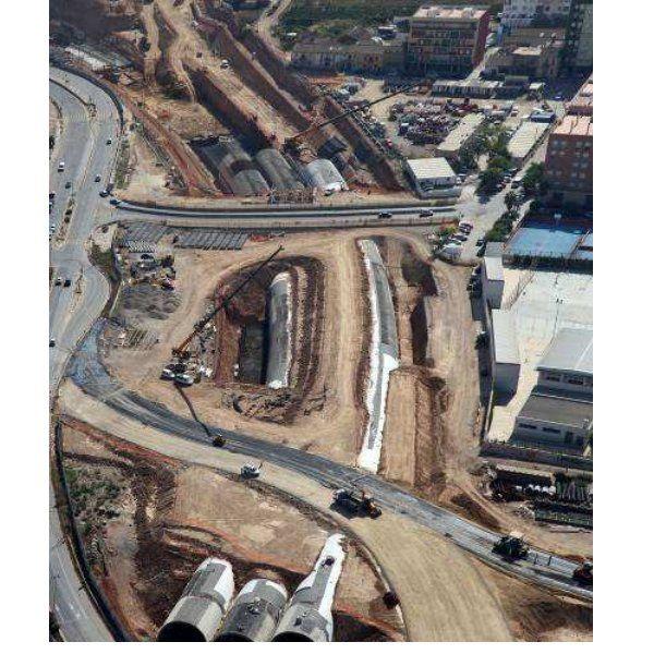 Obras de drenaje y trabajos auxiliares en grandes obras lineales