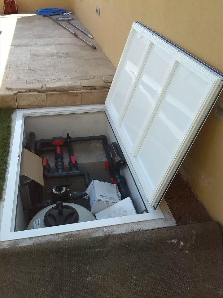 Tapa para maquinas de piscinas en Tenerife