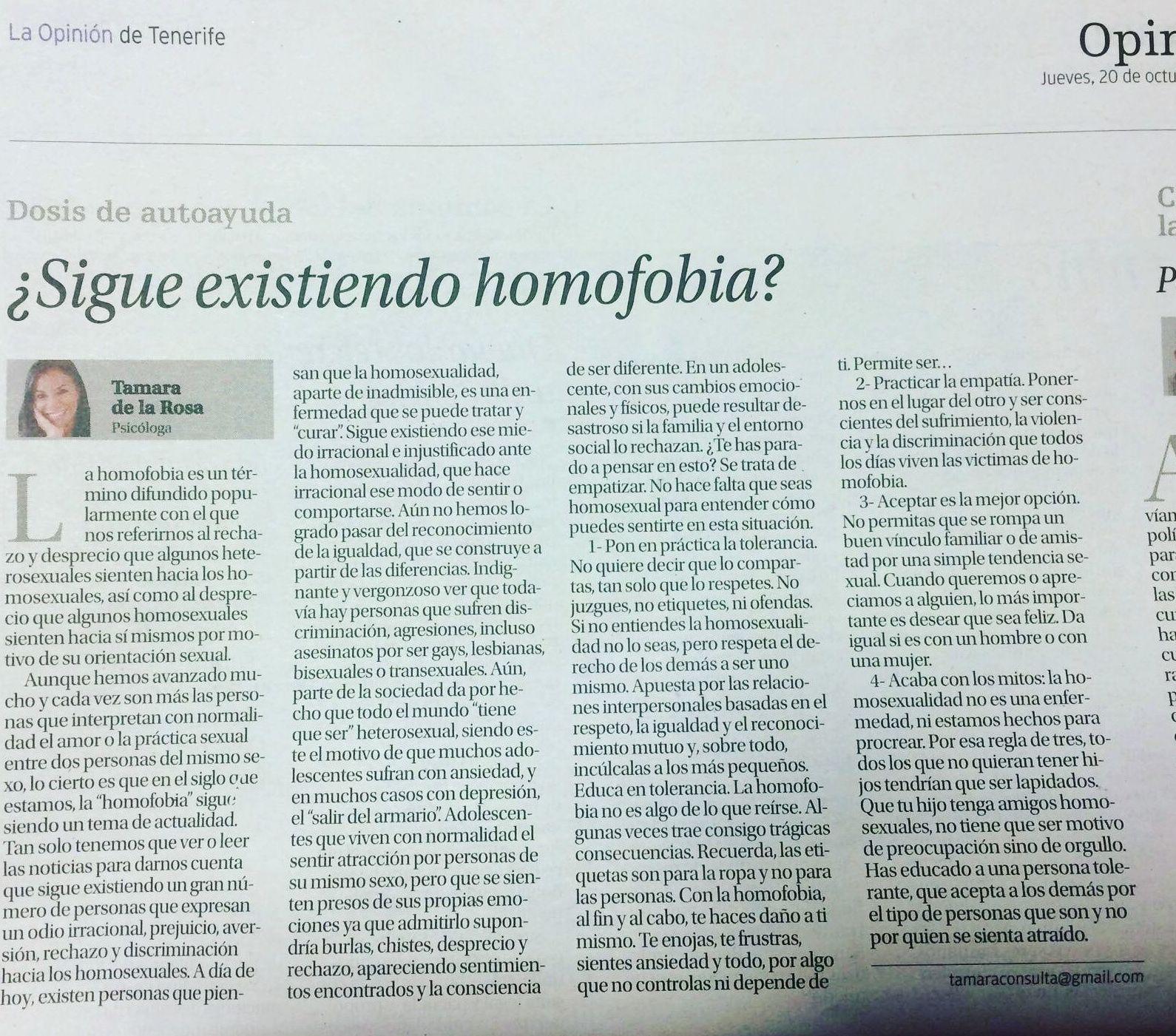 ¿SIGUE EXISTIENDO HOMOFOBIA?