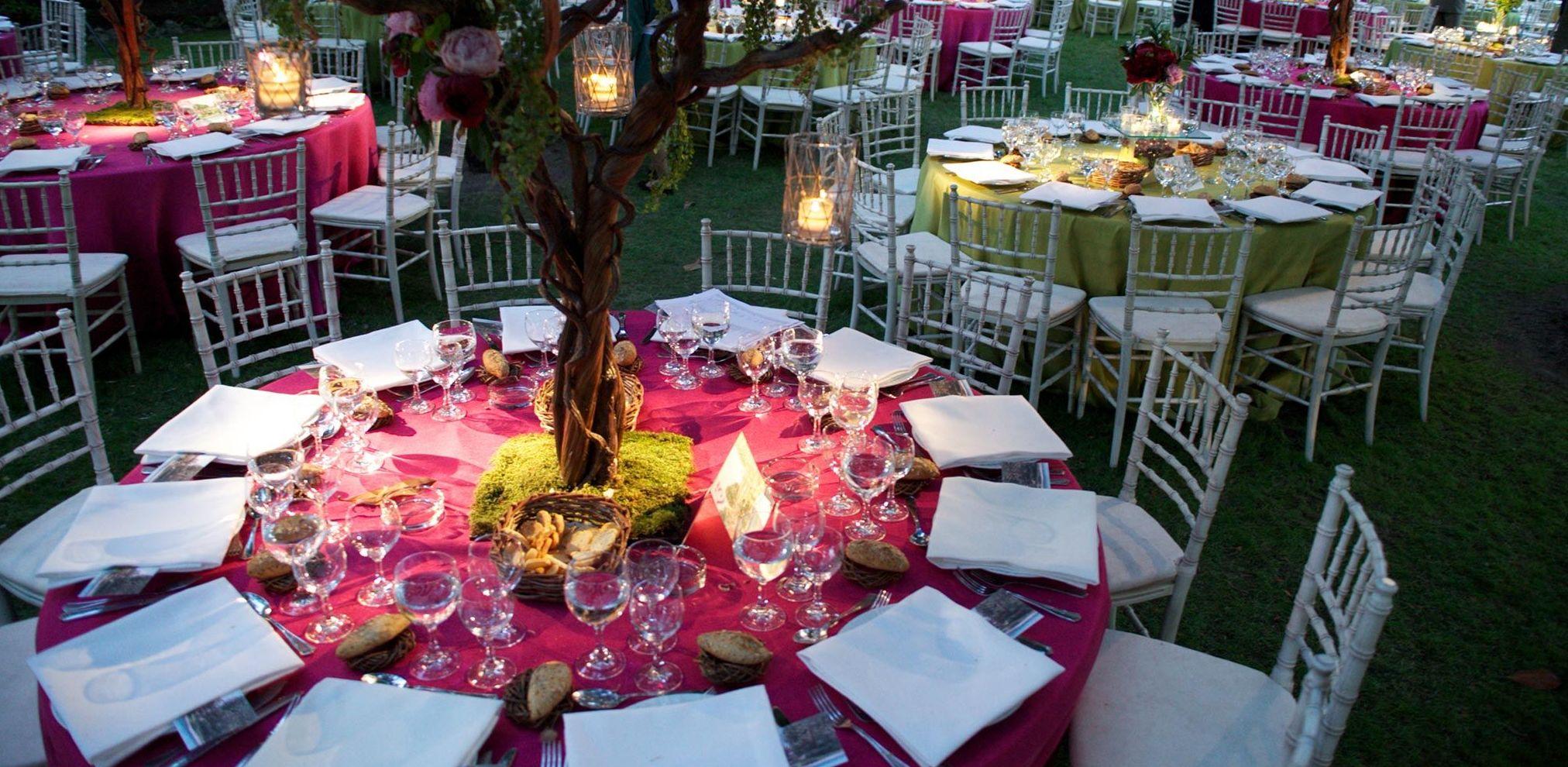Mesas para bodas en Madrid