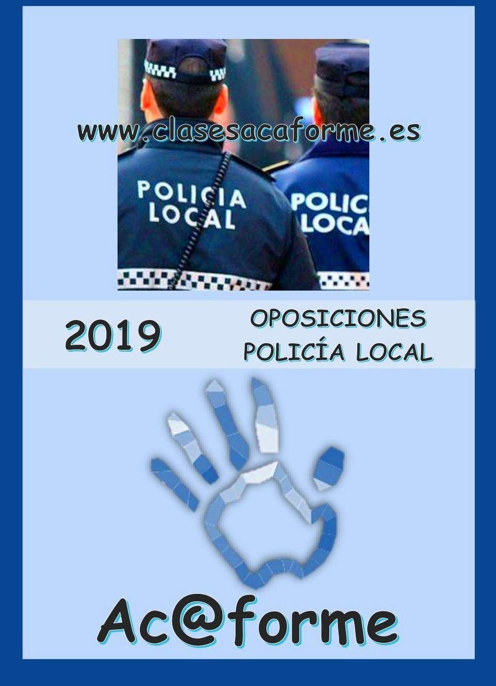 PREPARACIÓN POLICÍA LOCAL - Ac@forme