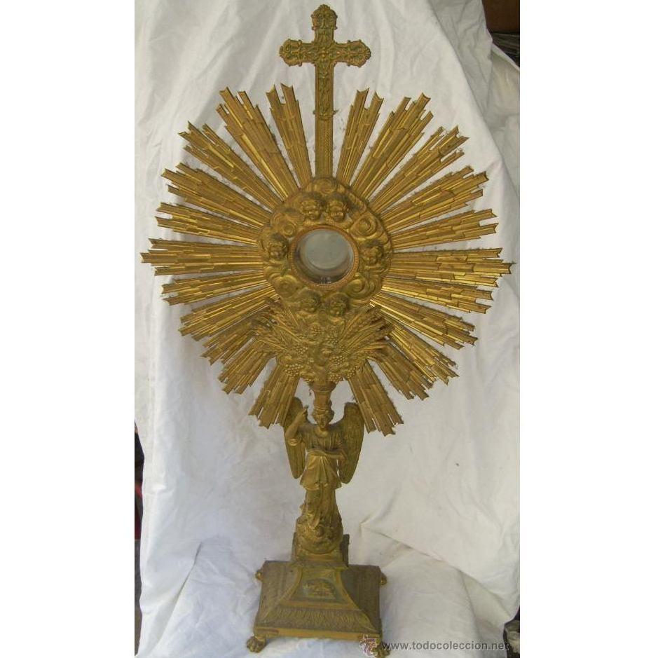 Custodia / Sagrario / Relicario de bronce dorado. Siglo XIX: Catálogo de Antiga Compra-Venta
