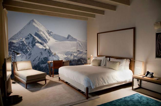 Dormitorio nevado