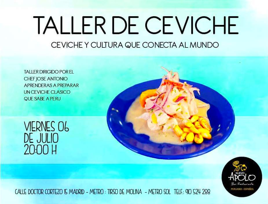 TALLER DE CEVICHE: Nuestra carta de Bar Restaurante Nuevo Apolo
