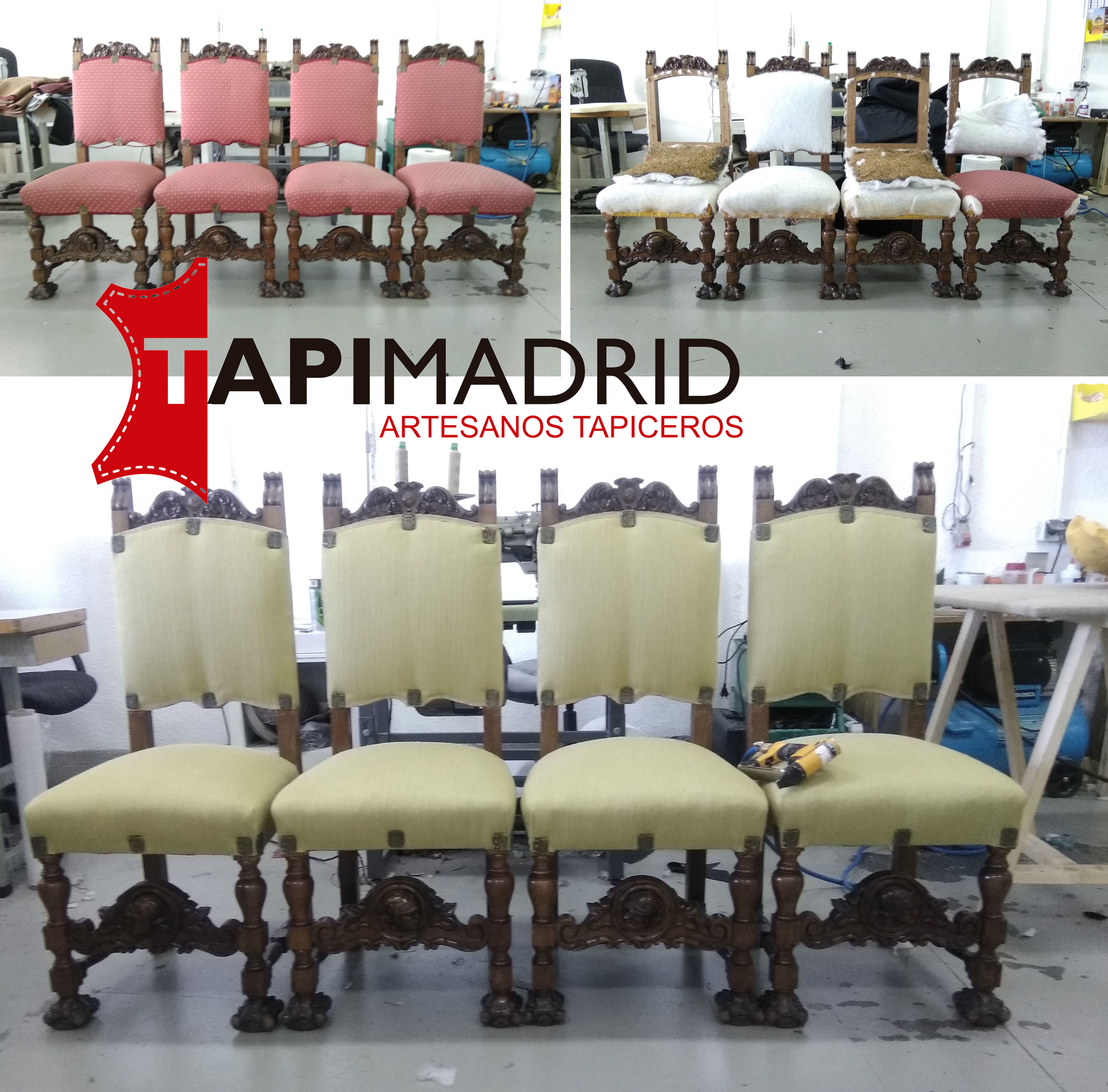 Tapizado de sillones castellanos