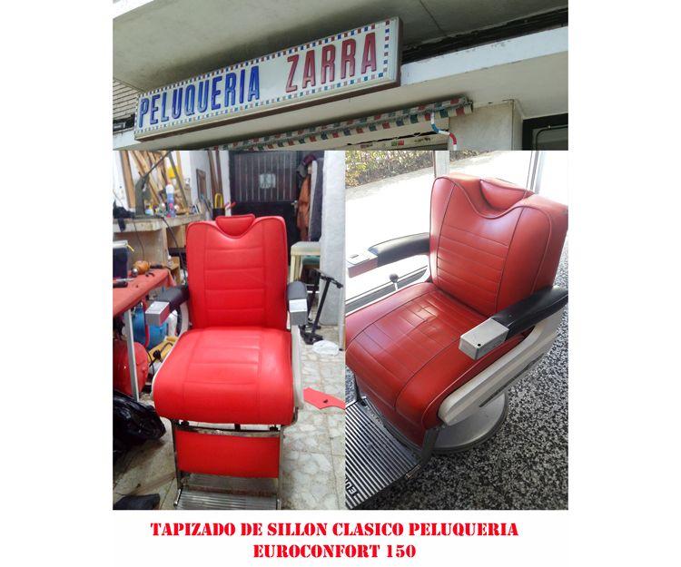 Tapizado de butacas de peluquerías en Madrid centro