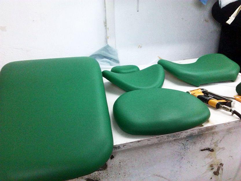 Tapizado de muebles de los ámbitos de la salud, el deporte y la belleza