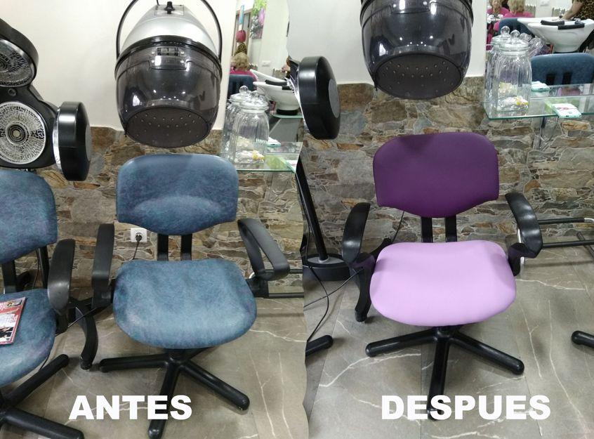 Tapizado de sillas y butacas de peluquería en Madrid
