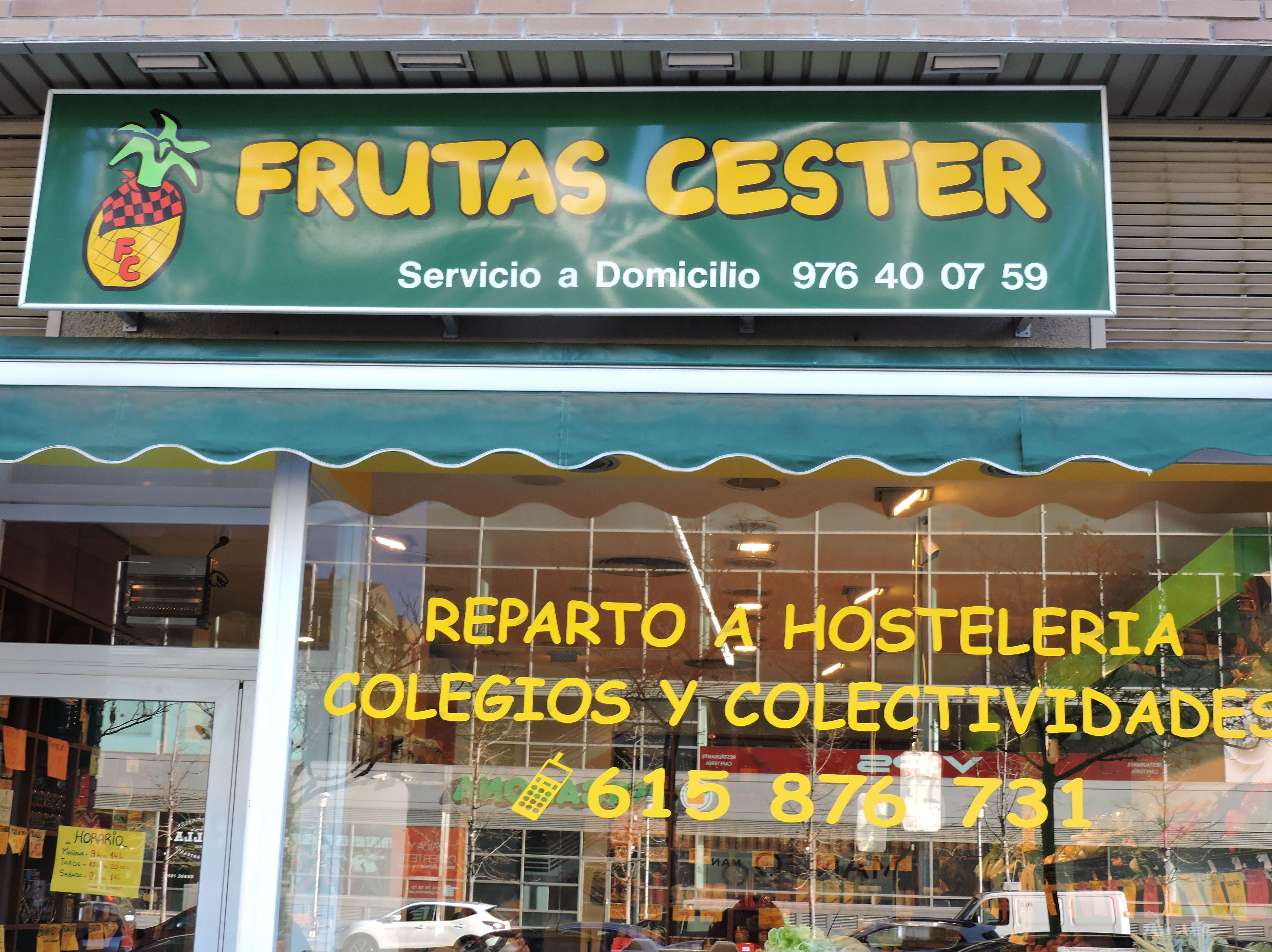 Servicio gratuito a domicilio o recoger en tienda: Catálogo de Frutas Cester