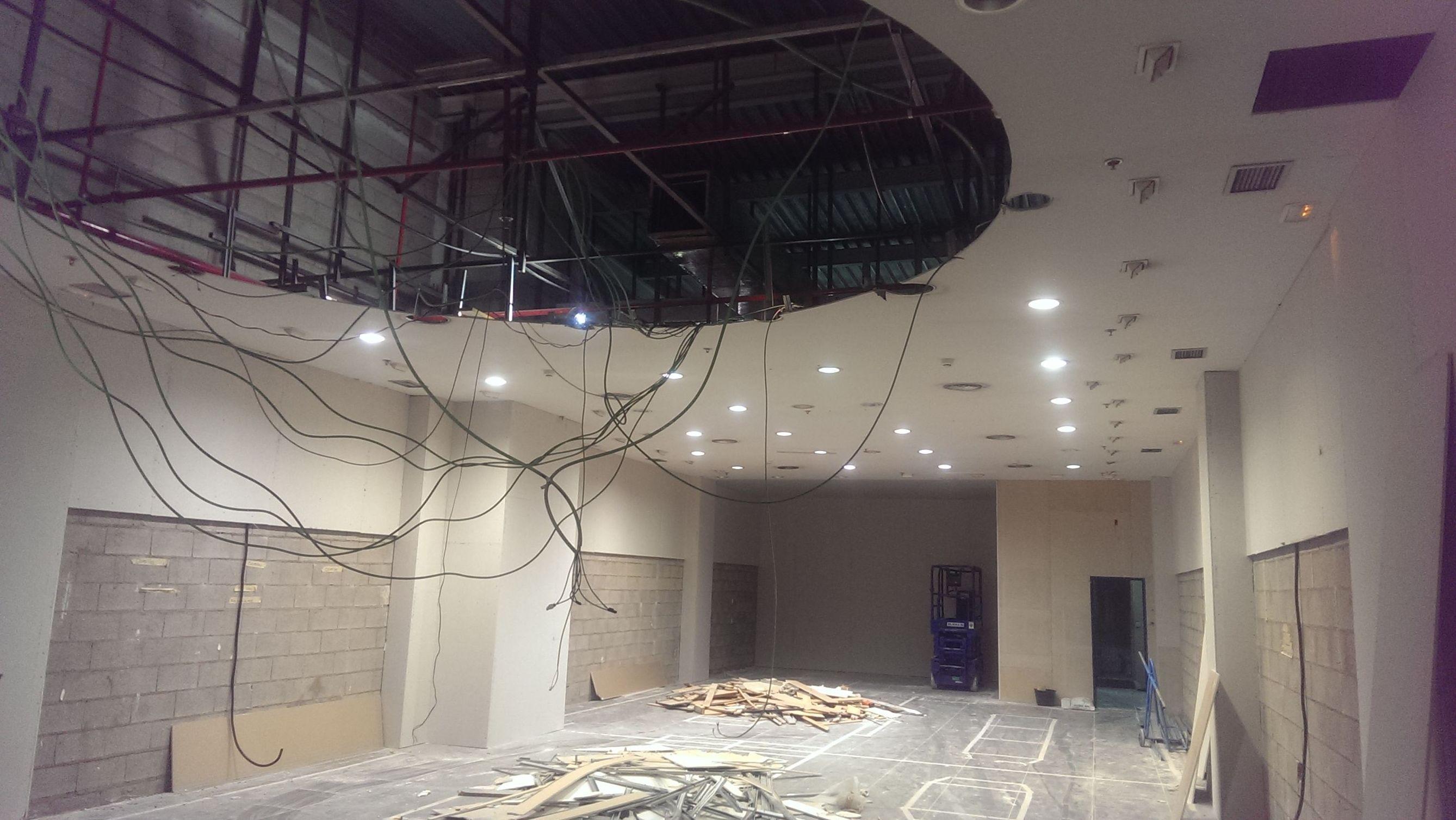 Apertura de hueco para formar tabica circular y techo en Getafe