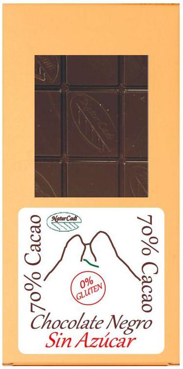 CHOCOLATE NEGRO 70%, SIN AZÚCAR: Productos de Rexgosa®