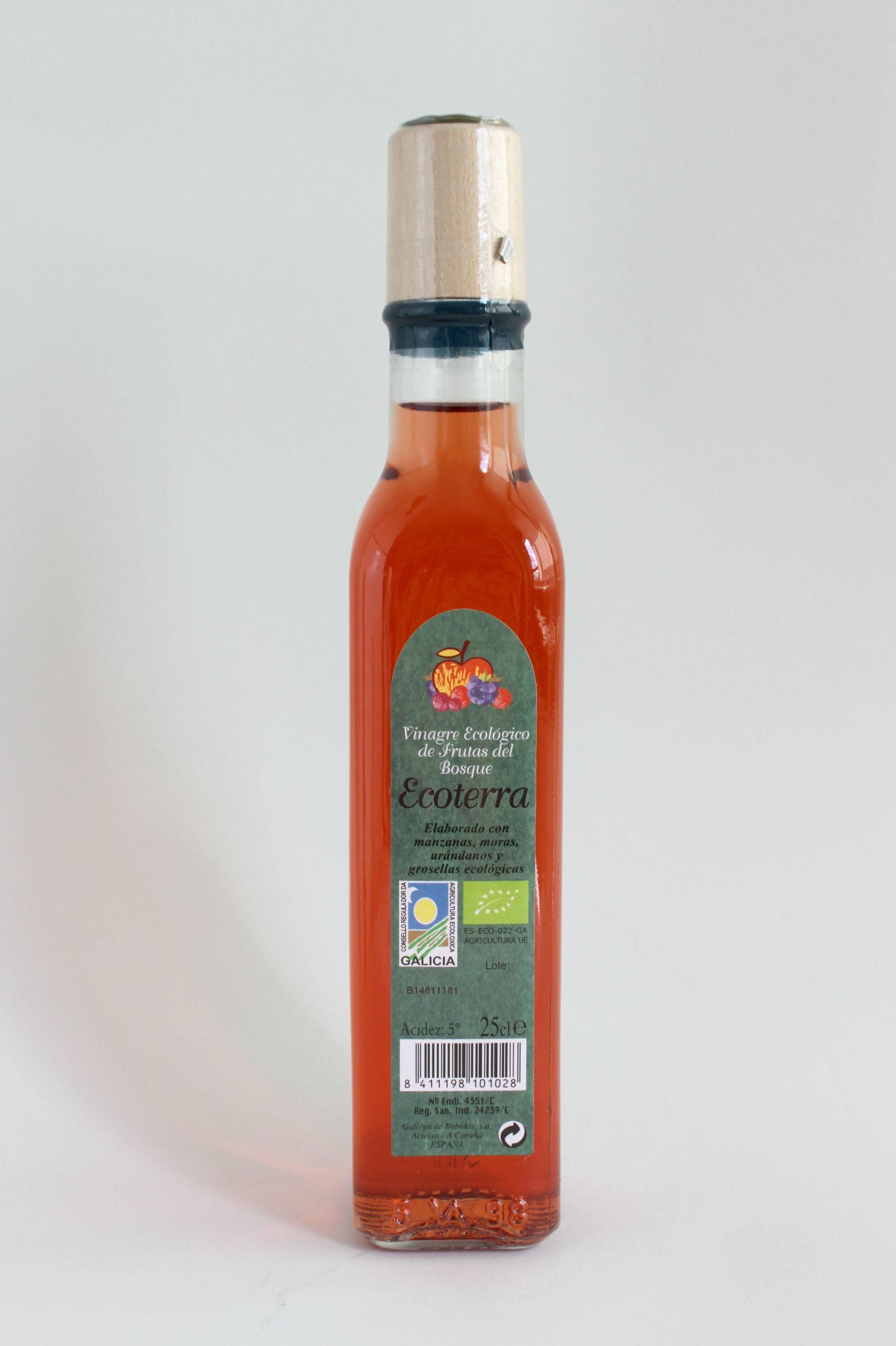 VINAGRE ECOLÓGICO DE SIDRA Y FRUTOS DEL BOSQUE: Productos de Rexgosa®