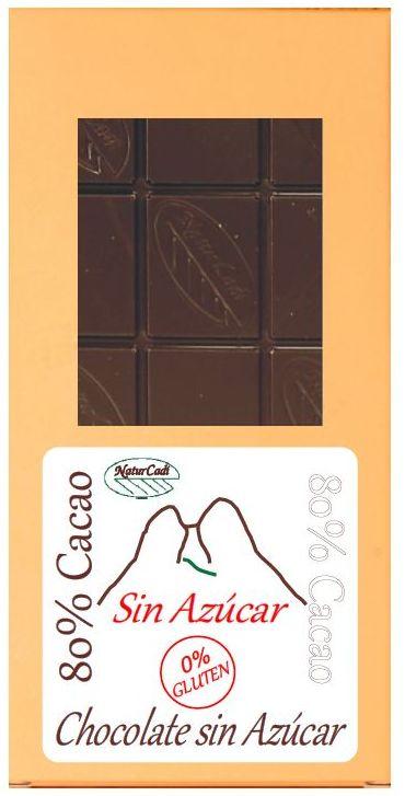 CHOCOLATE NEGRO 80% SIN AZÚCAR: Productos de Rexgosa®