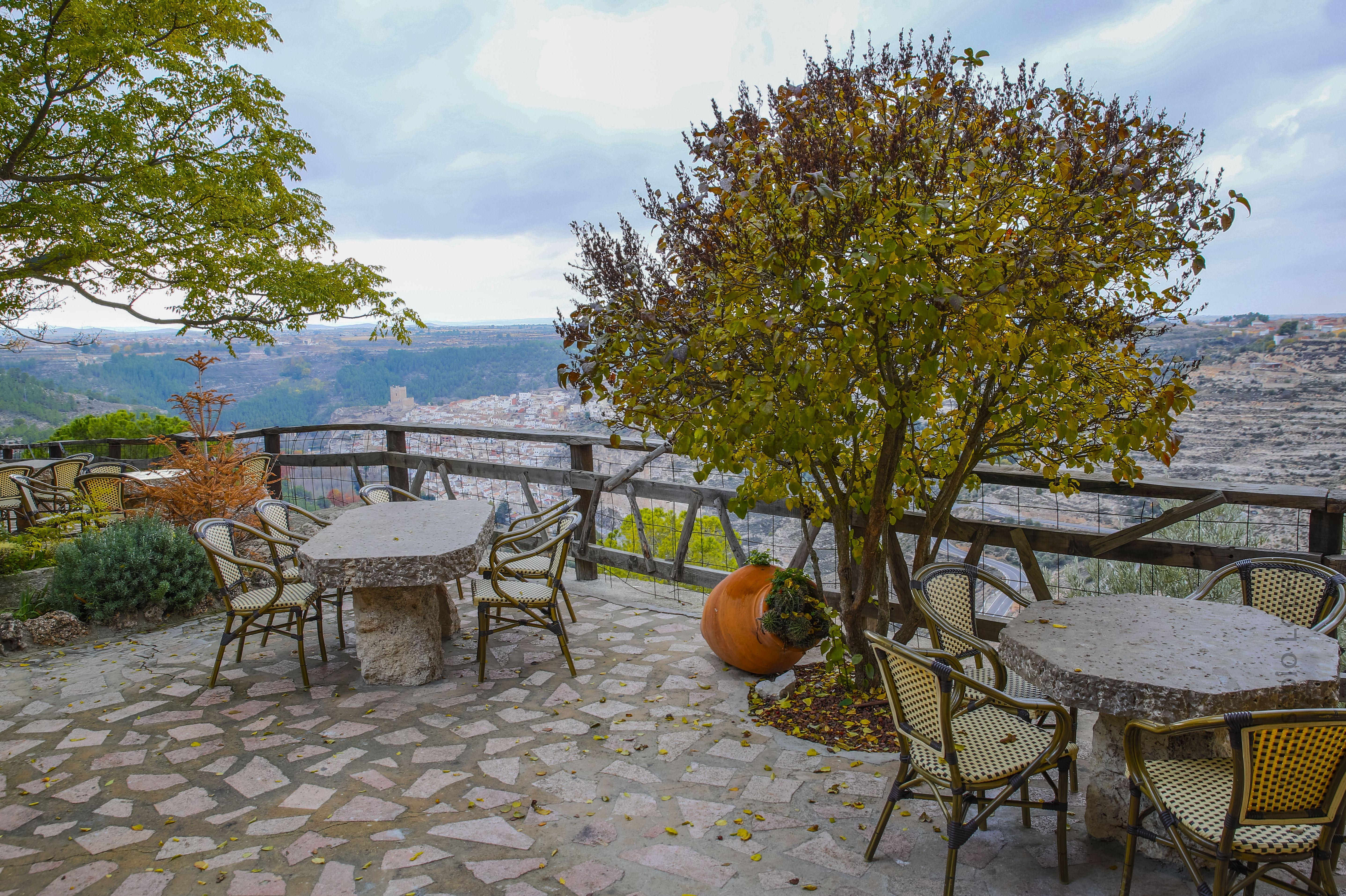 Magnificas vistas desde la terraza del restaurante