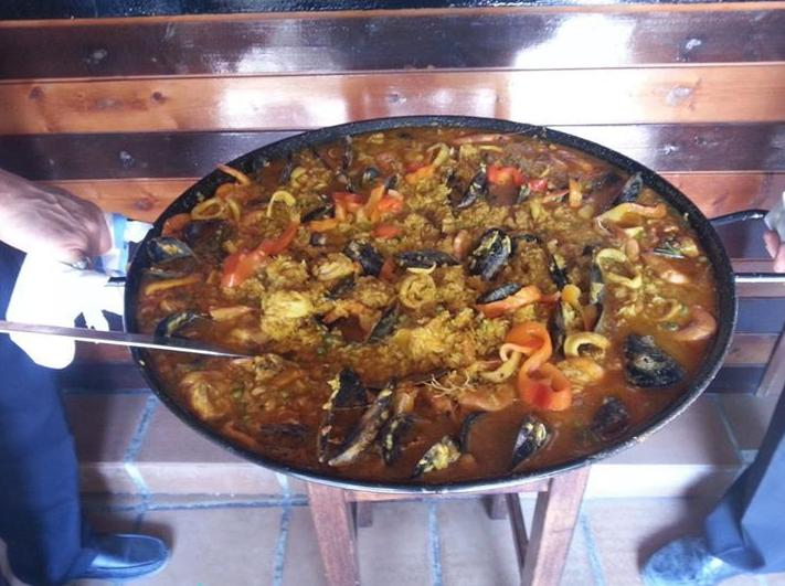Paella del Restaurante la Barraca