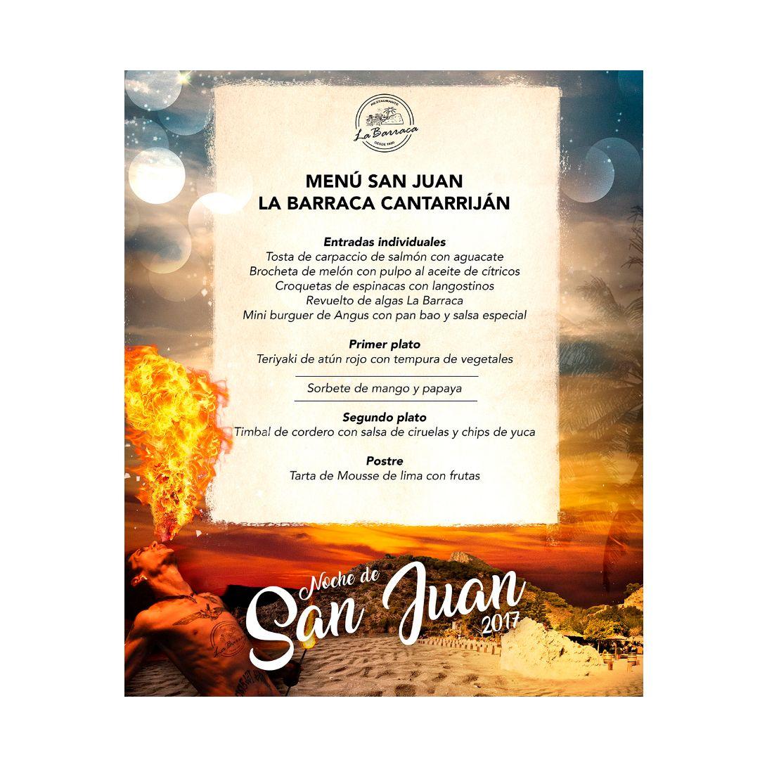 Menú San Juan: Productos y servicios de Restaurante La Barraca