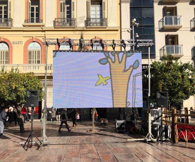 Montaje de pantallas gigantes para espectáculos