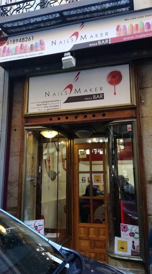 Nails Maker ubicado en el centro de Madrid, en pleno Barrio de las Letras