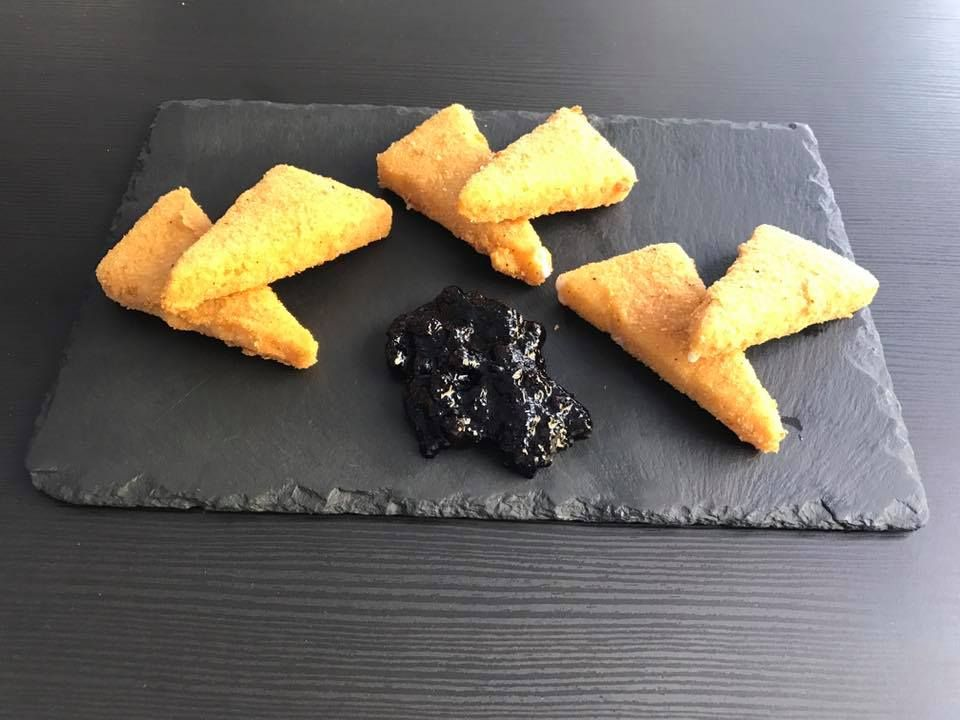 Típico queso frito canario en San Bartolomé de Tirajana