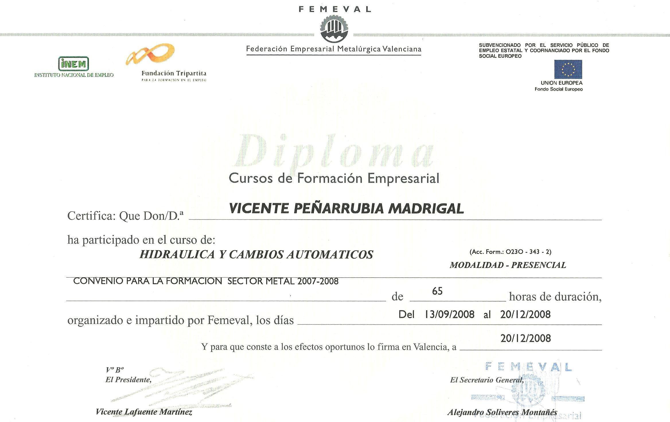 HIDRAULICA CAJAS DE CAMBIO AUTOMATICAS