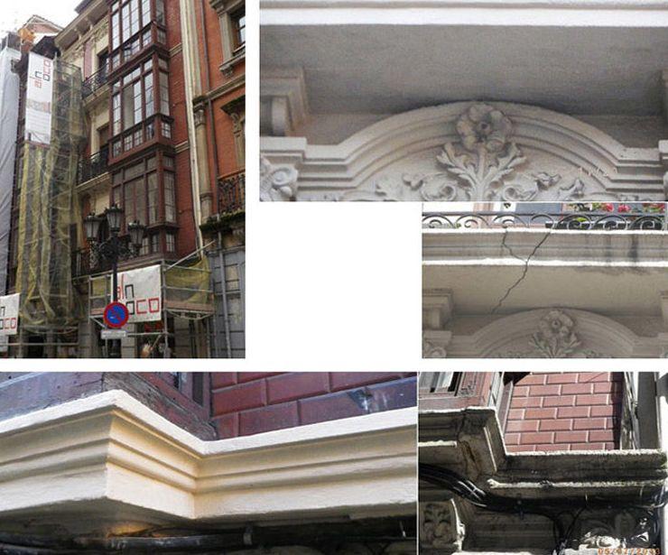 Reparación de fachadas en Oviedo