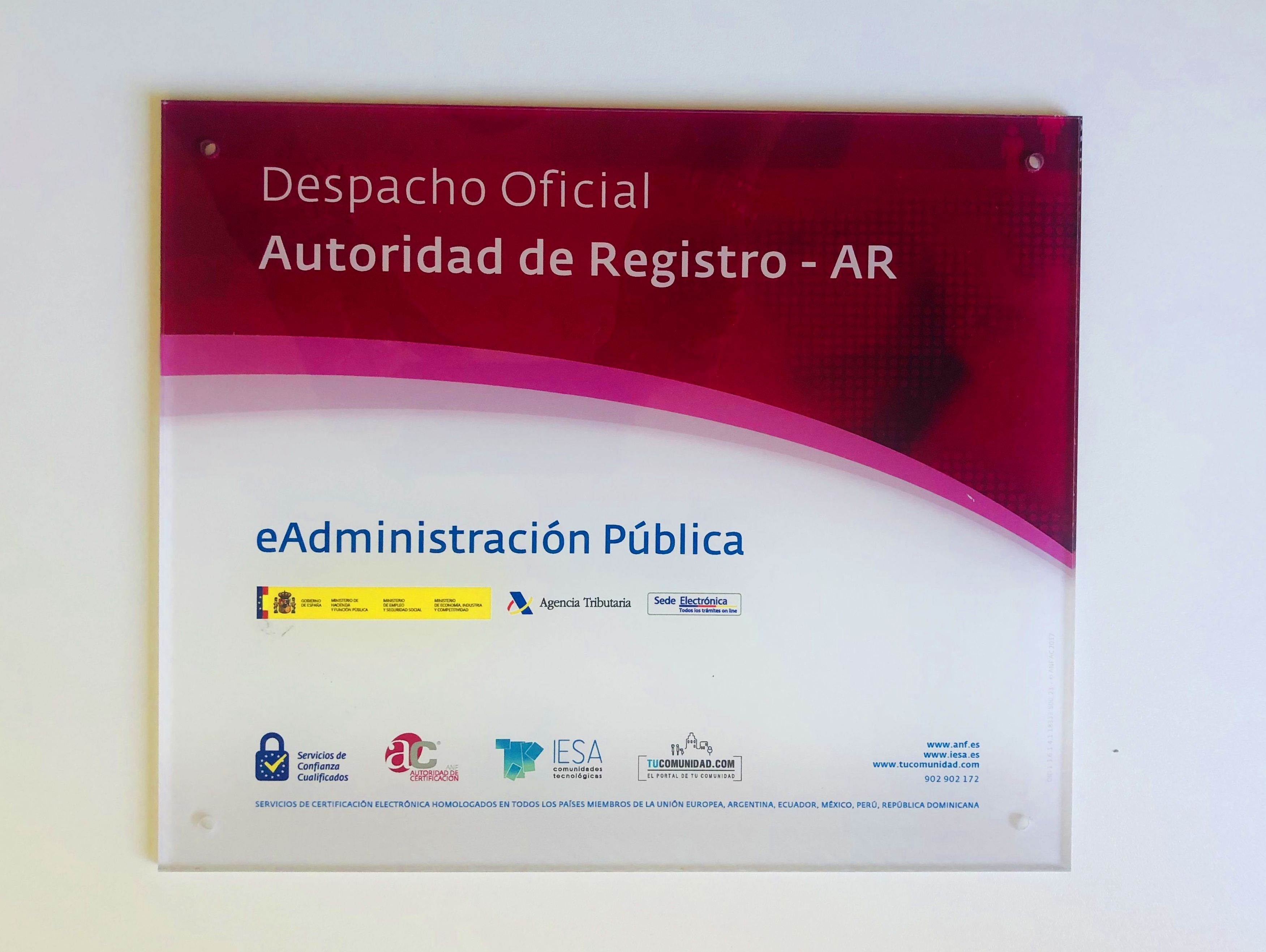 Despacho Oficial: Autoridad de Registro - AR