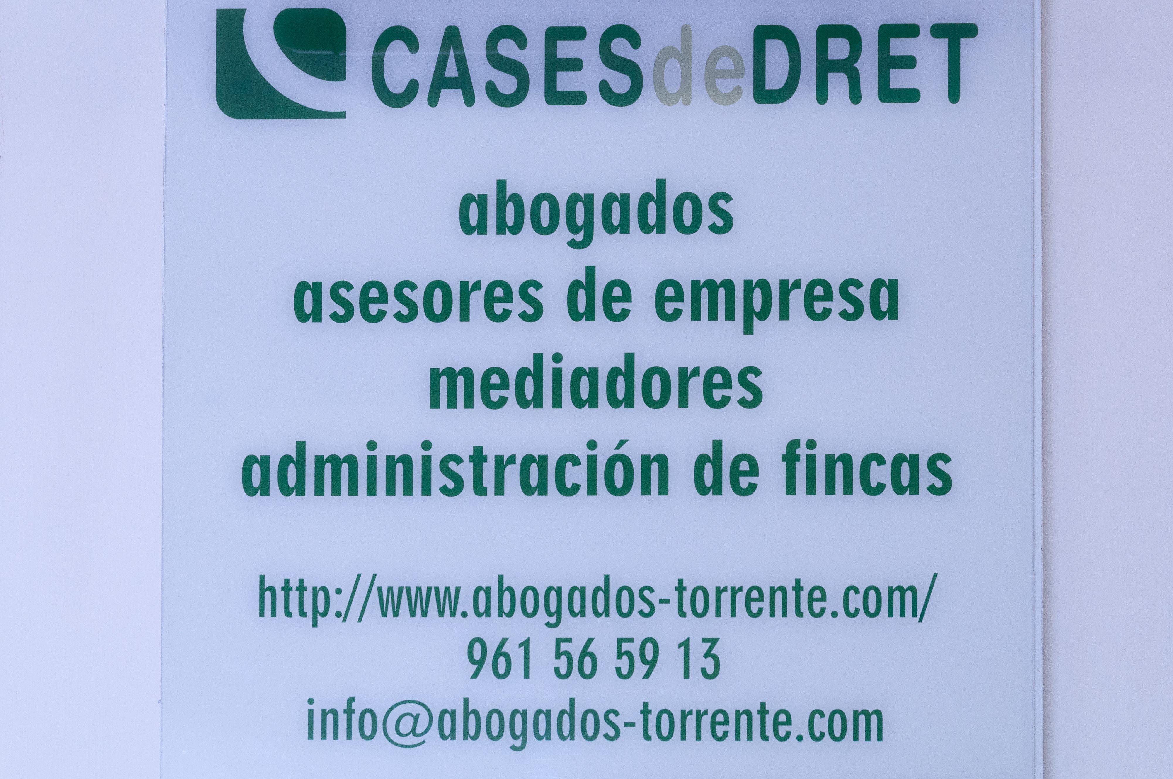 Rótulo Cases de Dret Torrent