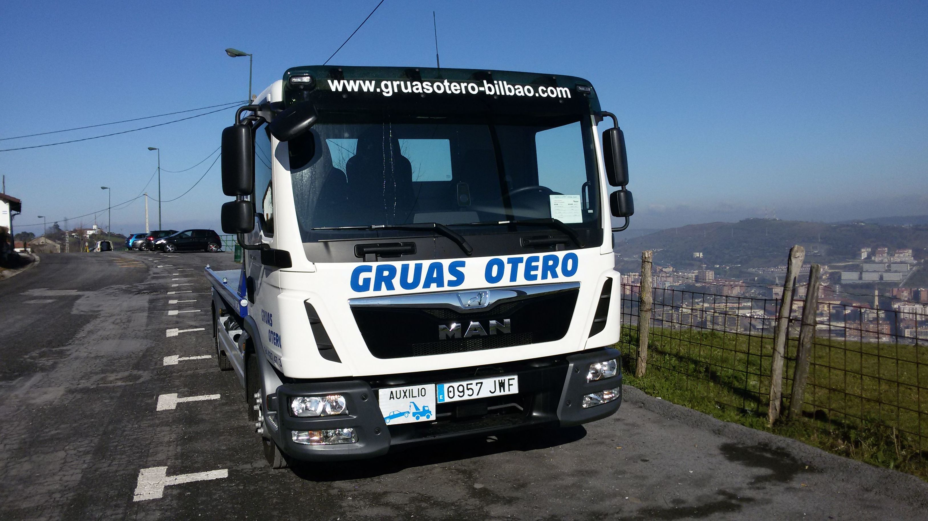 Grúa para coches en Bilbao