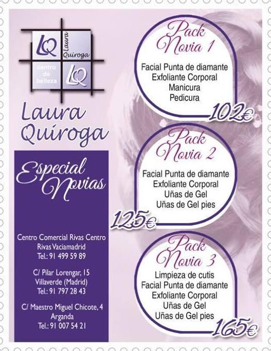Especial novias Centro de Estética Laura Quiroga