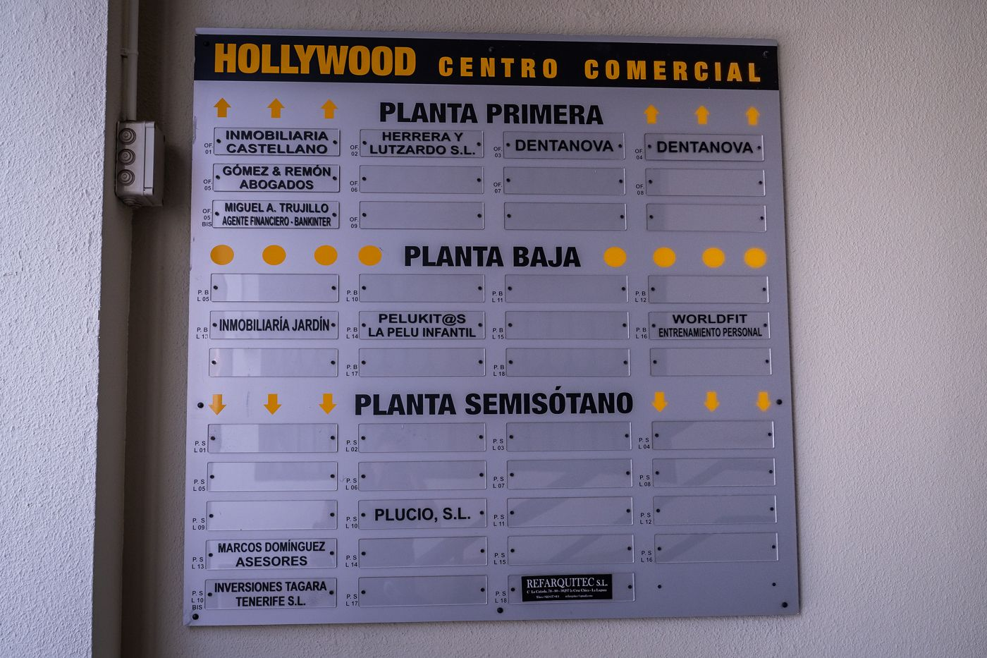 Plano del centro comercial