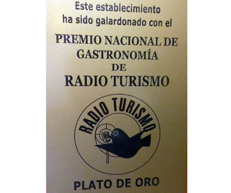Premio nacional de gastronomía Radio Turismo