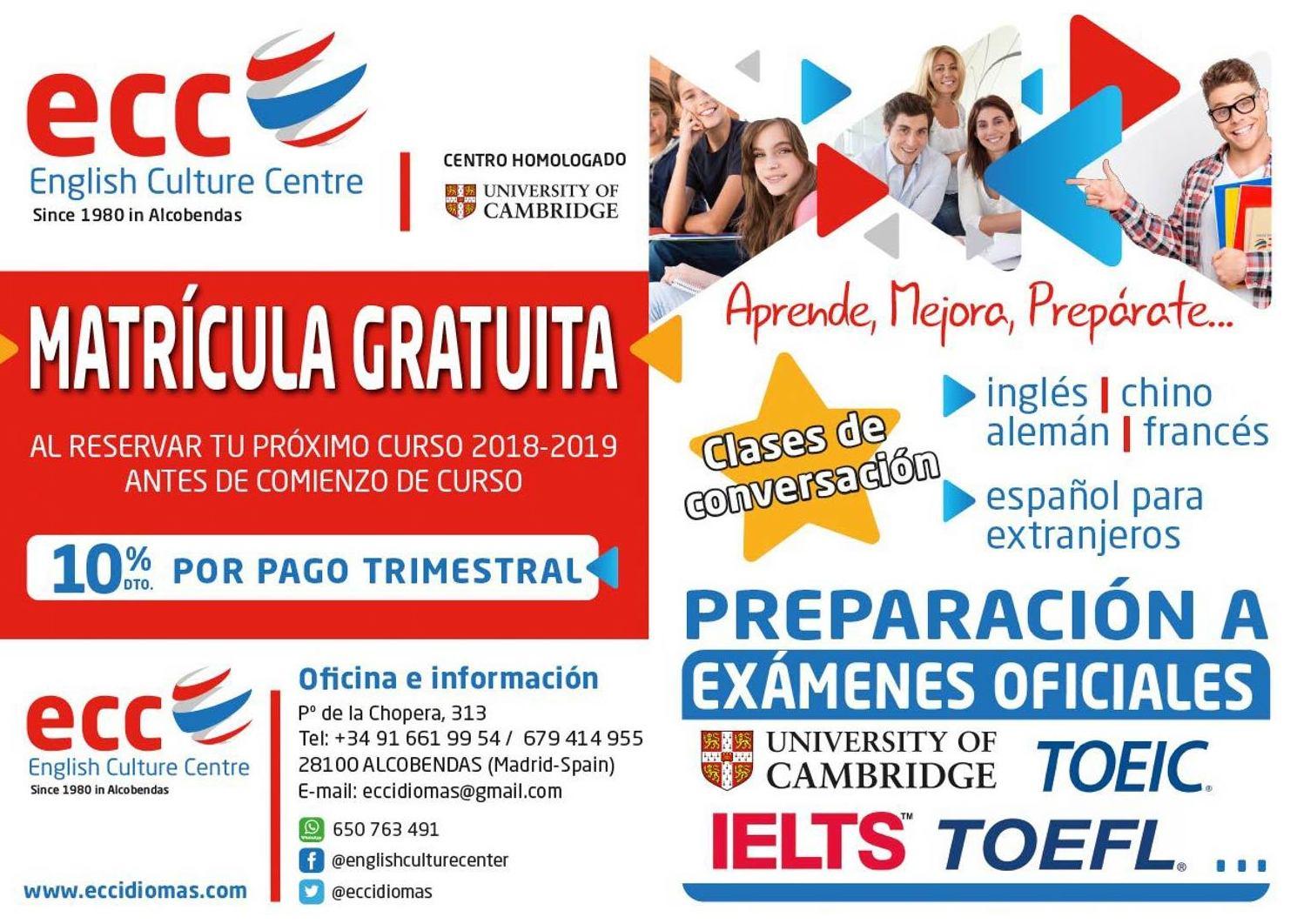 Próximo Curso de Inglés en Alcobendas