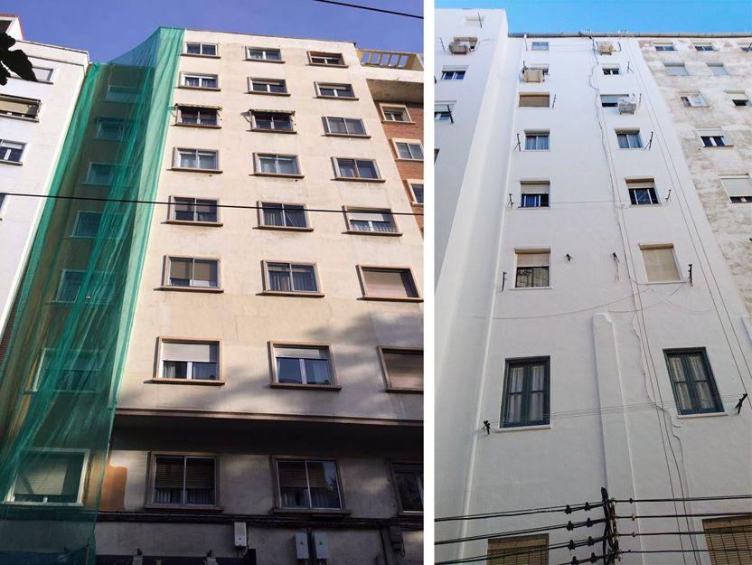 Pintura de fachadas sin andamios en Zaragoza
