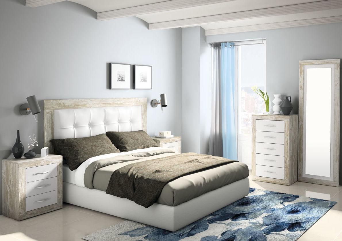 Dormitorio matrimonio en c/vintage/blanco