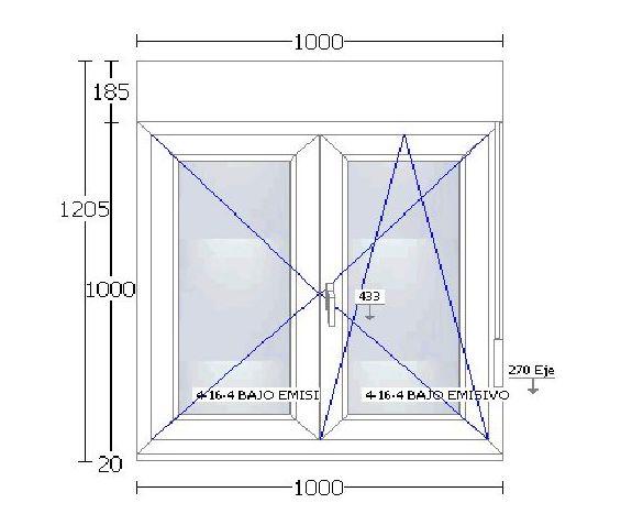 PVC 70 mm blanca: Ventanas en Stock de Ventanas Arsan