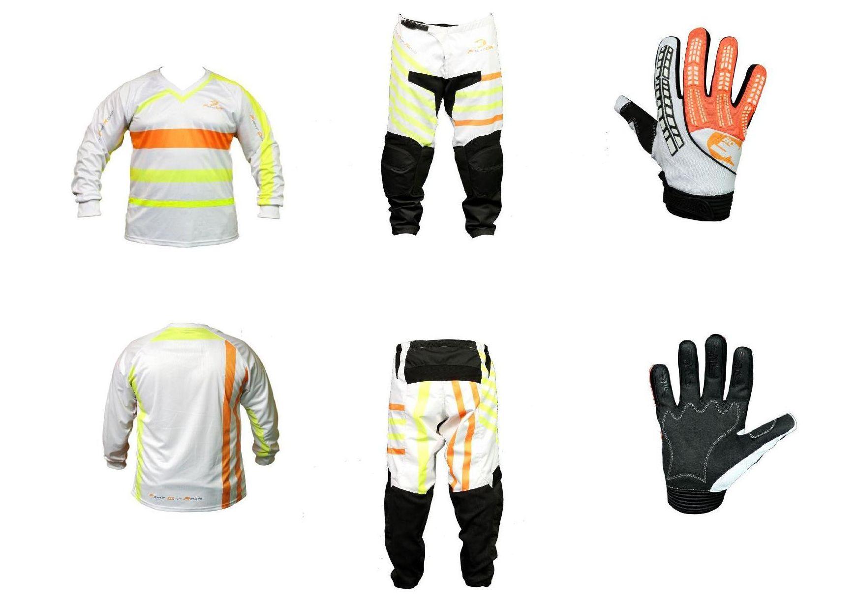 Guantes, sudadera y pantalones de la equipación blanca